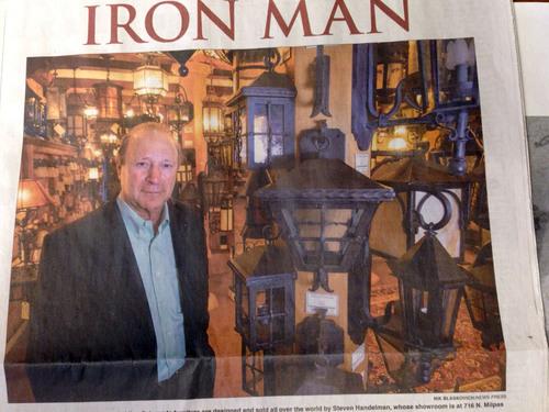 Steven Handelman from Steven Handelman Studios produces internationally top quality wrought iron products; making him a true Iron Man. (PRNewsFoto/Steven Handelman Studios) (PRNewsFoto/STEVEN HANDELMAN STUDIOS)
