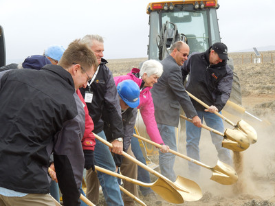 Ur-Energy Officers and Directors breaking ground at the Lost Creek ISR Project.  (PRNewsFoto/Ur-Energy Inc.)