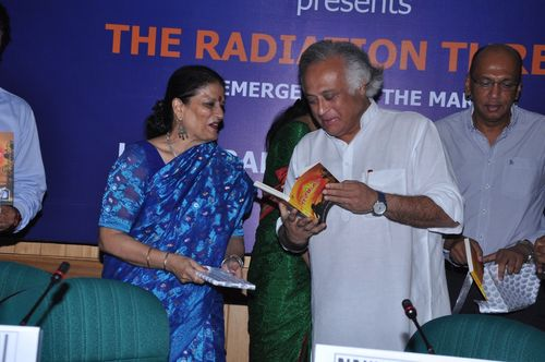 Hon'ble Minister for Rural Development, Sri Jairam Ramesh launching the book The Radiation Threat: An Emergency in the Making – by Harsaran Bir Kaur Pandey