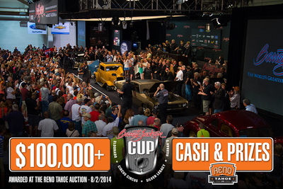Barrett-Jackson, The World's Greatest Collector Car Auctions(TM), presents the Barrett-Jackson Cup at the 2nd Annual Hot August Nights Auction, July 31-Aug. 2, with a prize purse north of $100,000 and growing. (PRNewsFoto/Barrett-Jackson)