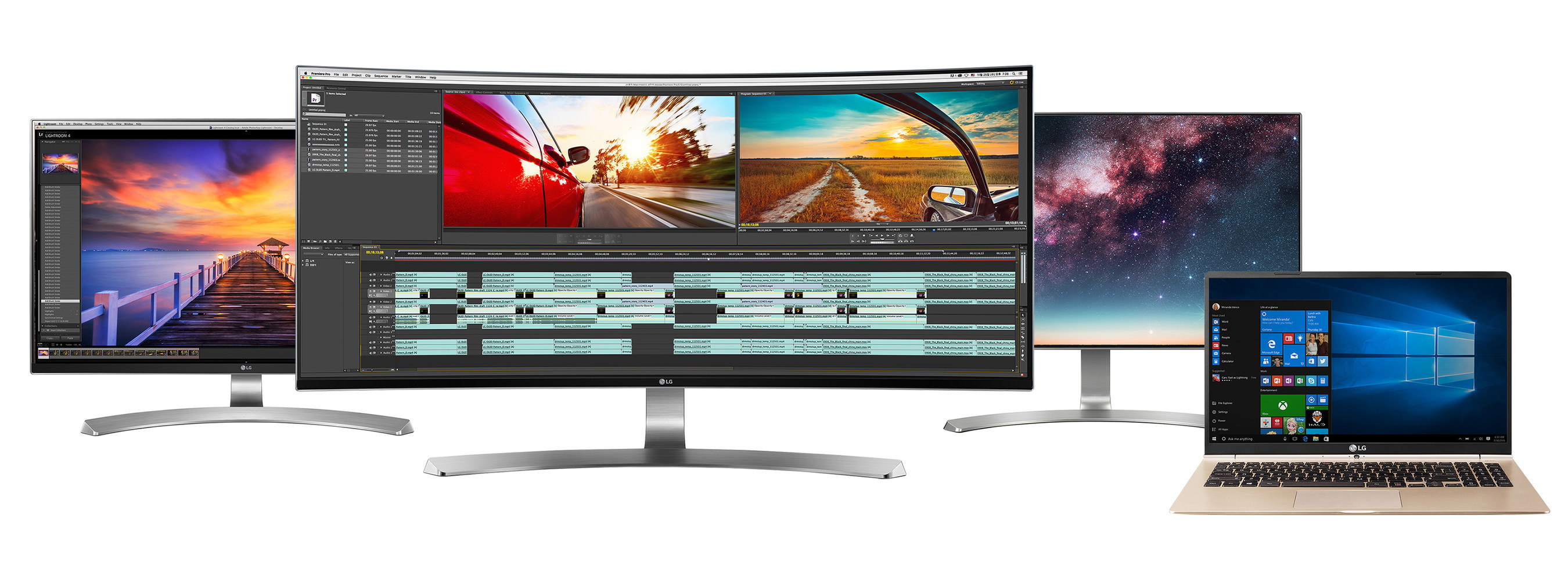At CES(R) 2016, LG will showcase its newest 21:9 UltraWide(R) monitors, 4K monitors and gram laptops, all designed to ensure maximum productivity and entertainment for today's demanding power users.