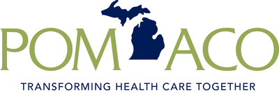 The logo of the new Physician Organization of Michigan ACO, an accountable care organization formed by the University of Michigan Health System and eight other physician groups. POM ACO includes more than 1,800 Michigan physicians serving more than 81,000 Medicare patients.  (PRNewsFoto/University of Michigan Health System)