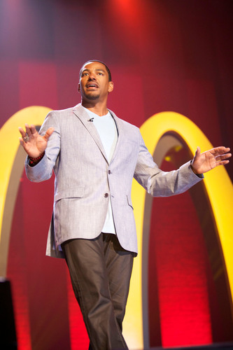 Actor Laz Alonso hosted the ninth annual McDonald's(R) 365Black(R) Awards, held for the first time at the Mahalia Jackson Theater, in New Orleans on July 6.  (PRNewsFoto/McDonald's USA, LLC)