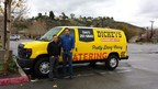 Anthony Pimentel and Kenneth Robles stand outside their new catering van in Santa Clarita. The new location opens Thursday with a three day grand opening.