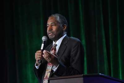 Dr. Ben Carson addresses more than 500 Siegfried Professionals and special guests at Siegfried's 9th MY Journey(TM) event.