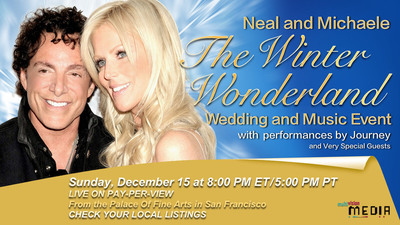 Neal and Michaele The Winter Wonderland Wedding and Music Event Artwork. (PRNewsFoto/PCA Creative LLC) (PRNewsFoto/PCA CREATIVE LLC)