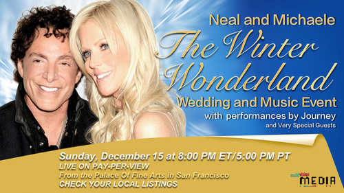 Neal and Michaele The Winter Wonderland Wedding and Music Event Artwork. (PRNewsFoto/PCA Creative LLC) ...