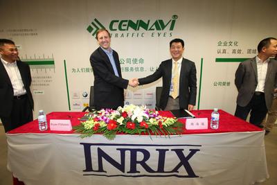 INRIX y el equipo de CenNavi despliegan servicios de tráfico premium en 28 ciudades chinas
