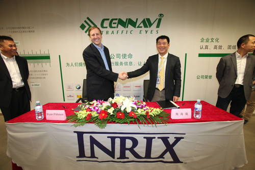 INRIX And CenNavi Team To Deliver Premium Traffic Services In 28 Cities Across China