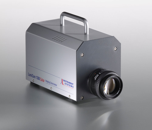 The LumiCam 1300 imaging photometer and colorimeter captures complex luminance and color distributions in an ...