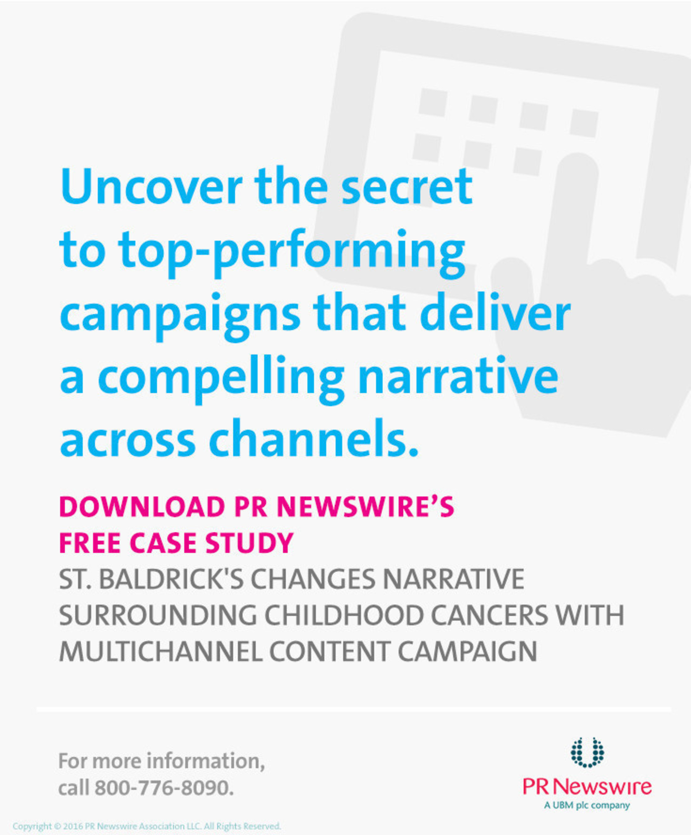 PR Newswire Case Study Explores How St. Baldrick's Increased Brand Awareness With Multichannel Campaign
