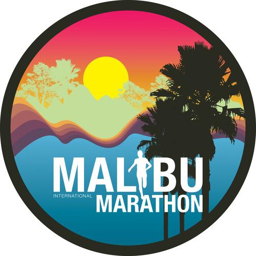 Malibu International Marathon Sunset Logo.  (PRNewsFoto/Forever Runners)