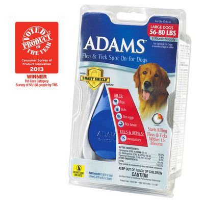Adams(TM) Smart Shield(R) Applicator Recognized As Product of the Year. (PRNewsFoto/Adams Pet Products) (PRNewsFoto/ADAMS PET PRODUCTS)