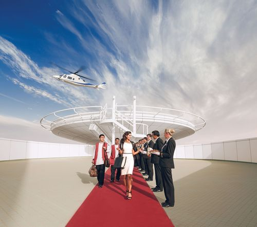 Also included is a scenic helicopter tour departing from Burj Al Arab's private rooftop helipad ...