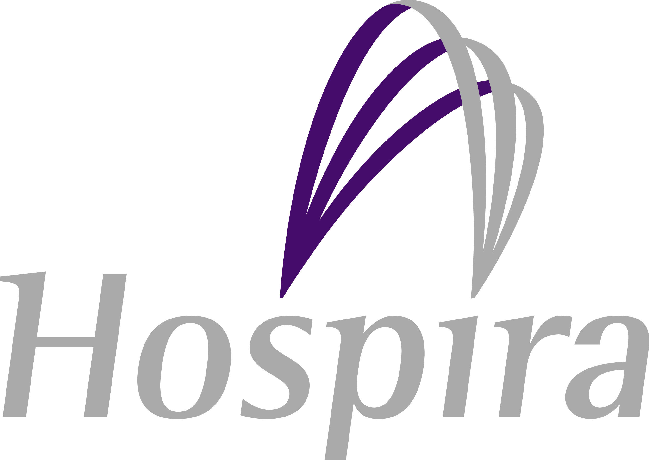 """Like the name Hospira, the logo is unique, differentiating and contemporary. The arc highlights the word """"spira"""" in the name, reinforcing Hospira's aspiration to be the world's leading hospital products provider and highlighting the spirit and inspiration of the employees that guide the company. (PRNewsFoto) (PRNewsFoto/)"""