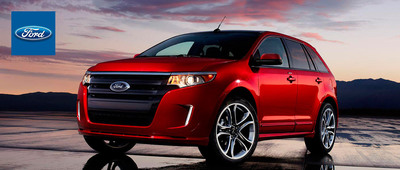 When equipped with the available four-cylinder engine, the Ford Edge is capable of traveling 30 mpg on the highway.  (PRNewsFoto/Matt Ford)
