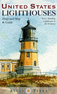 Majestic Split Rock, Minn., on Lake Superior, is featured on the cover of the new United States Lighthouses Illustrated Map & Guide from Bella Terra Publishing.  (PRNewsFoto/Bella Terra Publishing LLC)