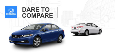 After comparing the 2014 Honda Civic vs. 2014 Nissan Sentra, South Carolina drivers can find Honda's valuable compact at Cale Yarborough Honda in Florence. (PRNewsFoto/Cale Yarborough Honda)