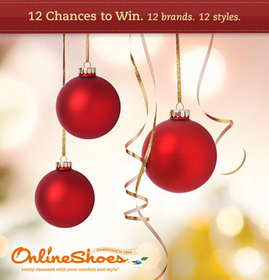 OnlineShoes.com Announces Third Annual 12 Days of Giving Contest.  (PRNewsFoto/OnlineShoes.com)