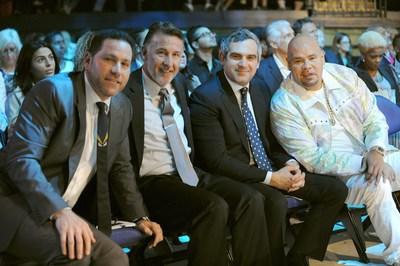 "Marc Ashley, Jim Winkler, Andrew Weissman, and Joseph ""Fat Joe"" Cartagena at the Market America | SHOP.COM International Convention"