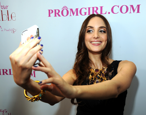 Alexa Ray Joel Partners With PromGirl to Launch #PromGirlUp Selfie Campaign at Gramercy Park Hotel on April 16, 2014 in New York City.  (Photo by Kevin Mazur/WireImage) (PRNewsFoto/PromGirl.com)