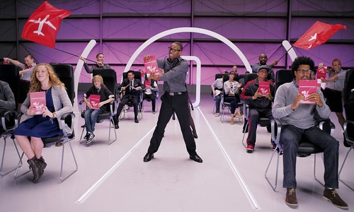 "American Idol season nine alum and #VXSafetyDance Safety Video star, Todrick Hall http://youtu.be/DtyfiPIHsIg, leads fellow dancers in performing the important safety video instructions in Virgin America's revamped Safety Video. The YouTube phenomenon known for his video hits including The Wizard of Ahhs, Beauty and the Beat, and Mean Gurlz, will be on hand to help SF Pride parade revelers ""buckle up, to get down"" with more than 200 of Virgin America's teammates, friends and family. (PRNewsFoto/Virgin America)"