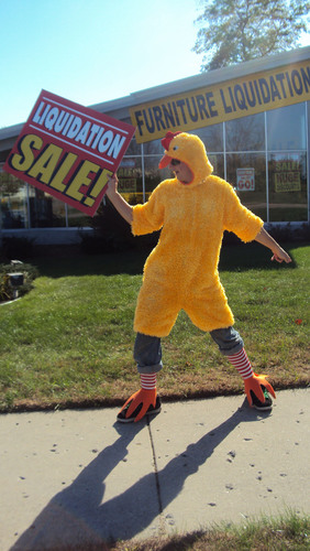 Question: Why did the chicken cross the road on 28th Street in Grand Rapids, MI?