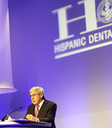 "Stanley M. Bergman, Chairman of the Board and Chief Executive Officer of Henry Schein, Inc., accepts the ""Corporate Award"" presented to Henry Schein by the Hispanic Dental Association at its 25th Annual Conference held last week in San Antonio, Texas."