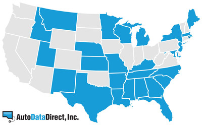 Auto Data Direct provides real-time records access to 26 state databases.  (PRNewsFoto/Auto Data Direct, Inc.)