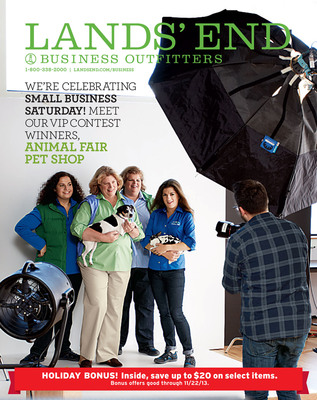 Lands' End Business Outfitters and Inc. Magazine Celebrate Small Business Saturday; Announce Grand Prize Winner of Their Small Business VIP Contest.  (PRNewsFoto/Lands' End)