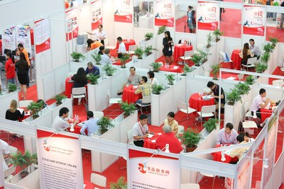 Onsite matching making at Hi China, connecting local and international buyers and suppliers (PRNewsFoto/UBM)