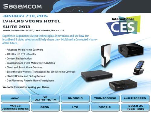 CES 2014 (PRNewsFoto/Sagemcom)