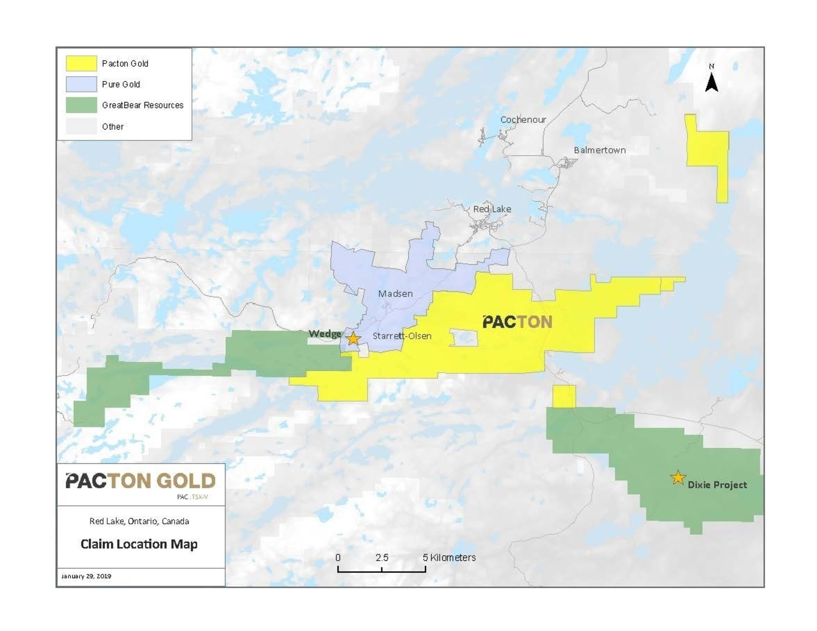 Map Of Canada 5 Great Lakes.Pacton Gold Commences Heliborne Magnetic Survery At Red Lake Gold