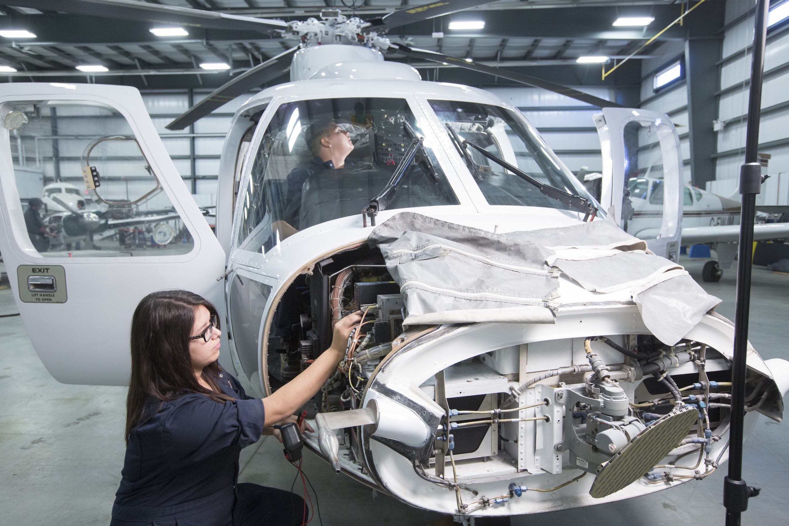 Transfer of the S-76A helicopter maintenance trainer to Saskatchewan Indian Institute of Technologies in Saskatoon, Canada, fulfills a portion of Sikorsky's Industrial and Regional Benefits obligations for a fleet of 28 new CH-148 Cyclone maritime helicopters for the Royal Canadian Air Force. The S-76A helicopter was converted to a maintenance trainer after being withdrawn from active flight status in 2015 having performed 26,291 hours in flight, and 16,723 landings since 1980.