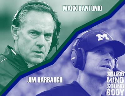Sound Mind Sound Body Football Academy Coaches - Dantonio and Harbaugh