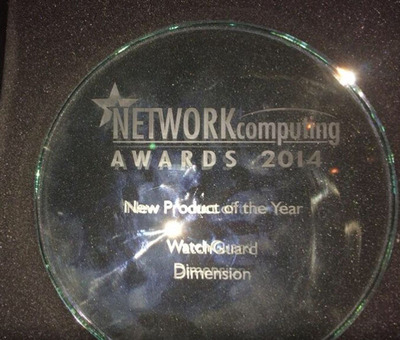 Network Computing Awards Names Dimension Best Product of 2014.  (PRNewsFoto/WatchGuard Technologies)