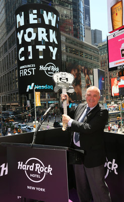 Hard Rock International's CEO Hamish Dodds at the Hard Rock Hotel New York Official Unveiling Event