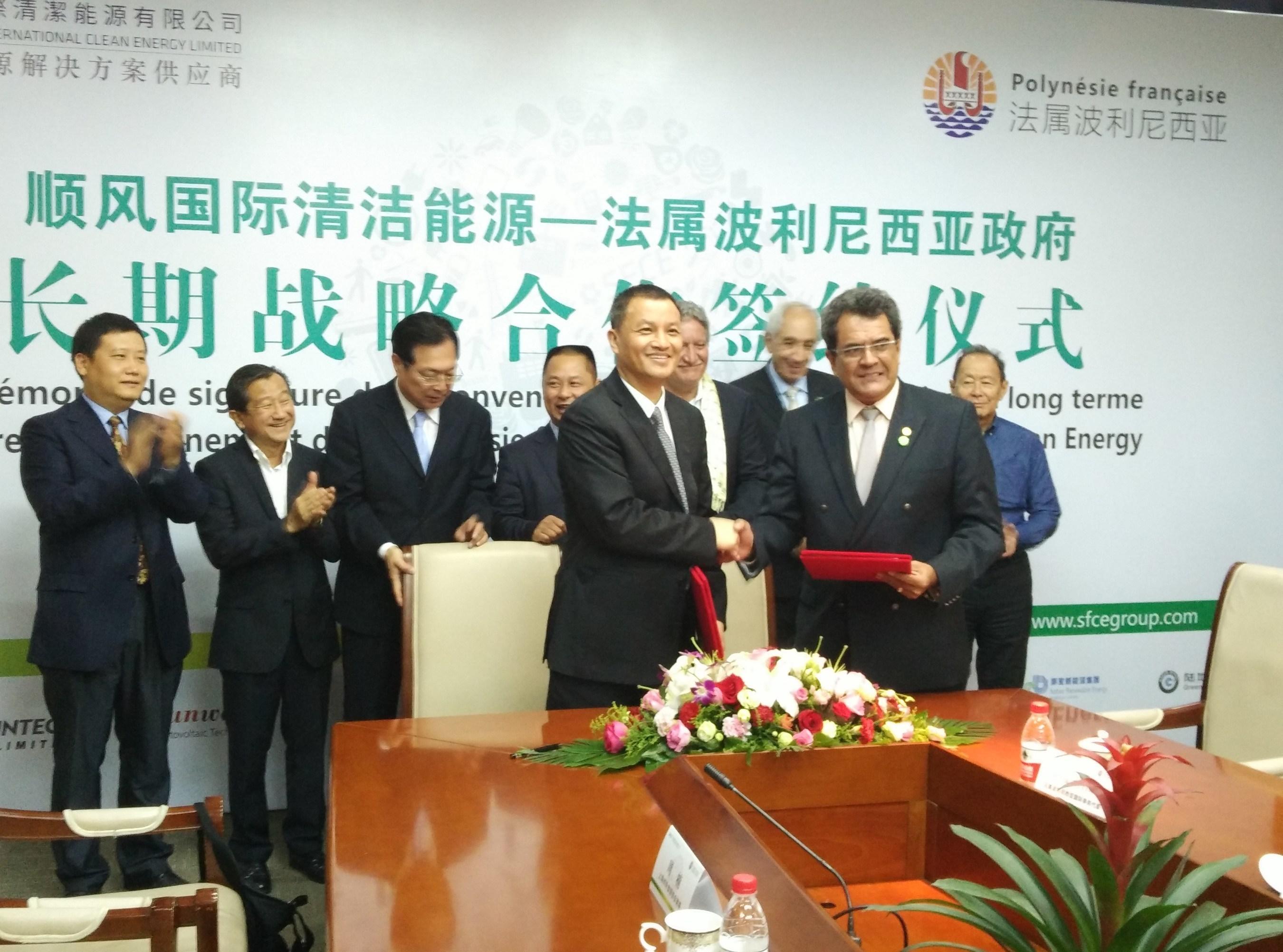 SFCE unterzeichnet Kooperationsvertrag mit Französisch-Polynesien über Großprojekt zur Einrichtung