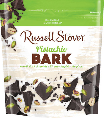 Russell Stover's new Pistachio Bark, a blend of crunchy pistachios and dark chocolate, is part of the company's new Everyday line of chocolates.