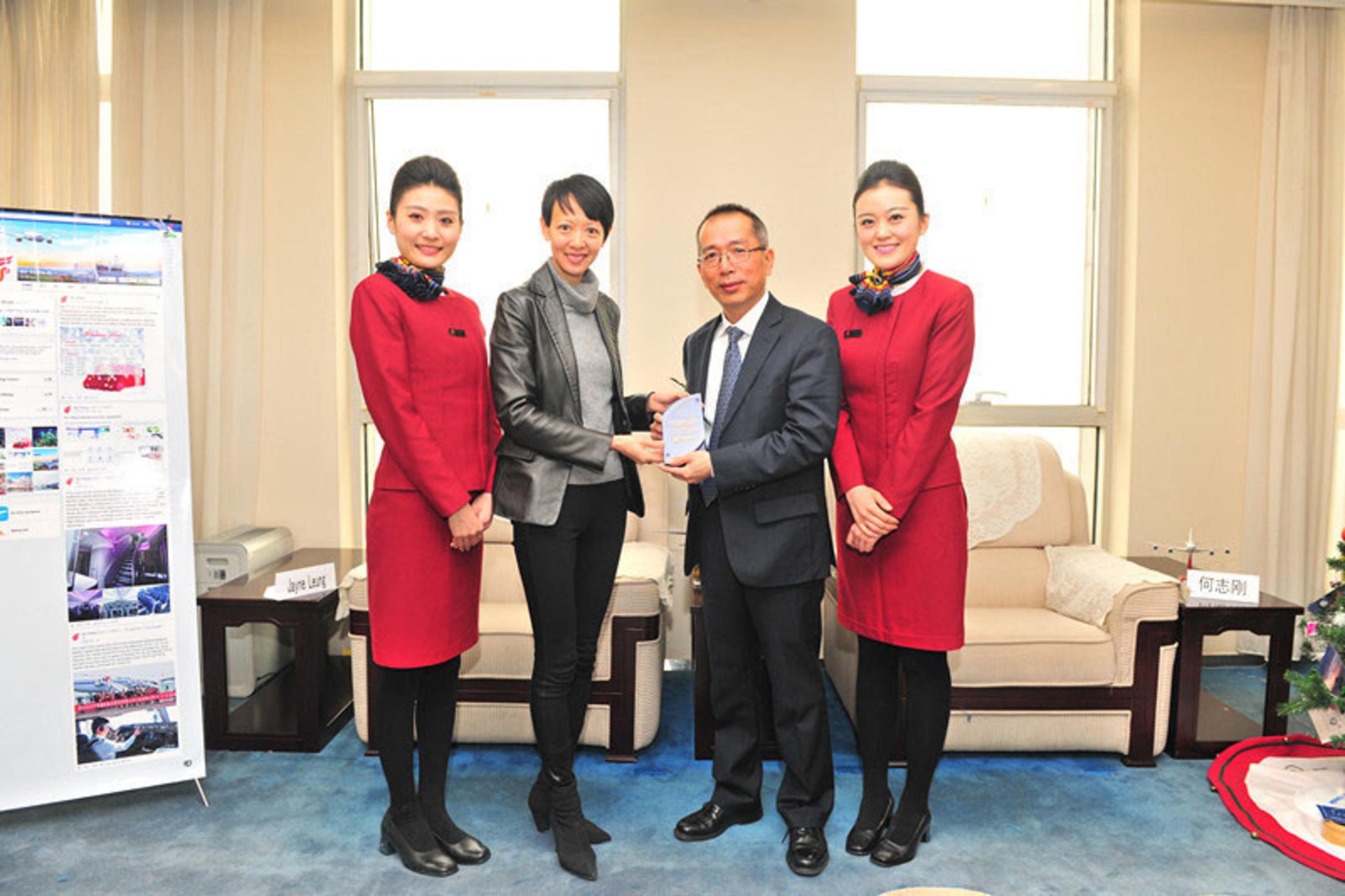 Air China riceve il premio Facebook