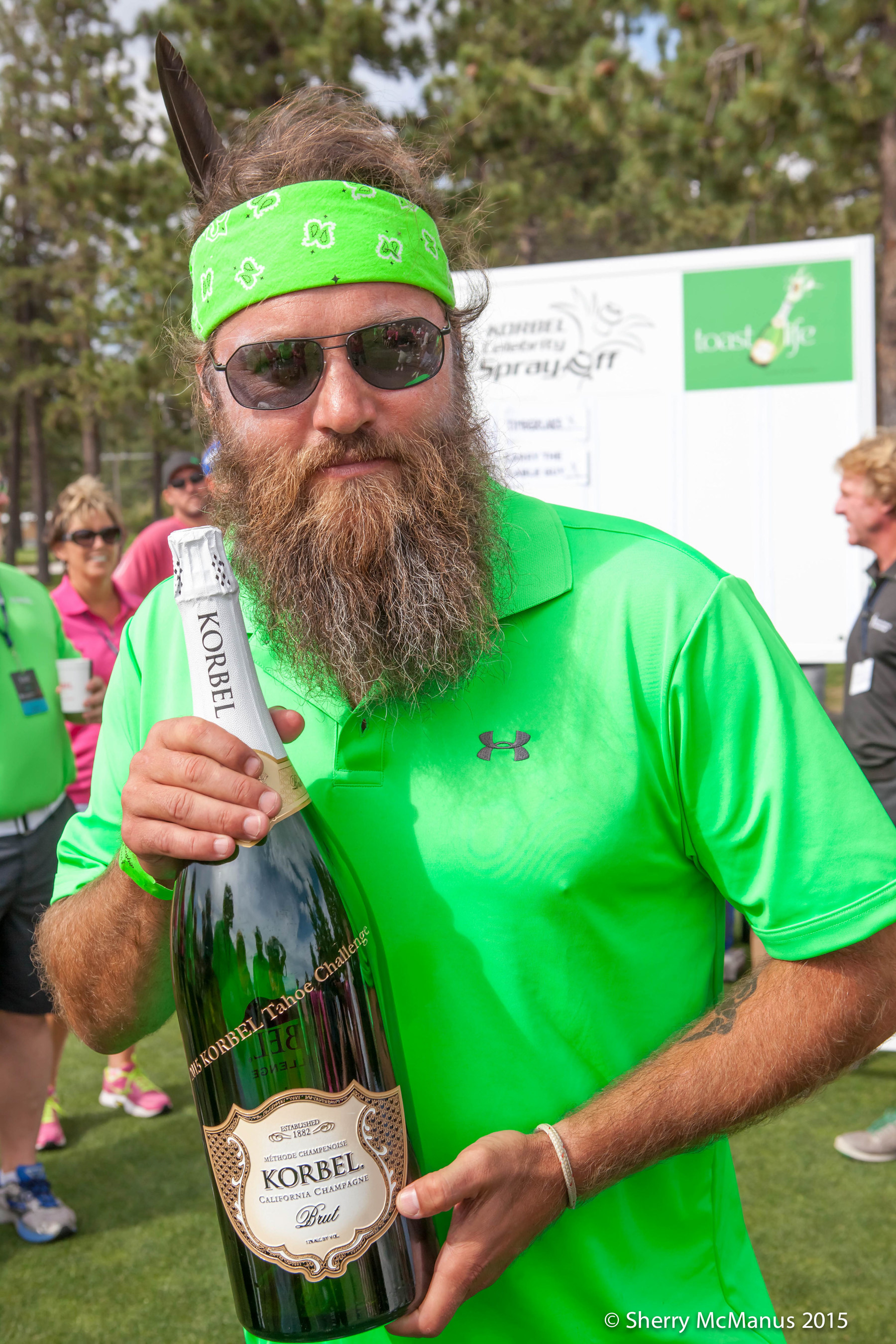 On July 17th 13 of the world's most legendary athletes and entertainers competed in Lake Tahoe for the Korbel Closest-to-the-Pin Challenge as part of the American Century Celebrity Golf Championship, currently being played at Edgewood Golf Course. Duck Dynasty Star Willie Robertson took home the title after teeing off from Hole 17 and placing his ball just 12 feet 1 inch away from the pin, winning a $5,000 donation for Tahoe Wildlife Care from the Korbel Toast Life Foundation.