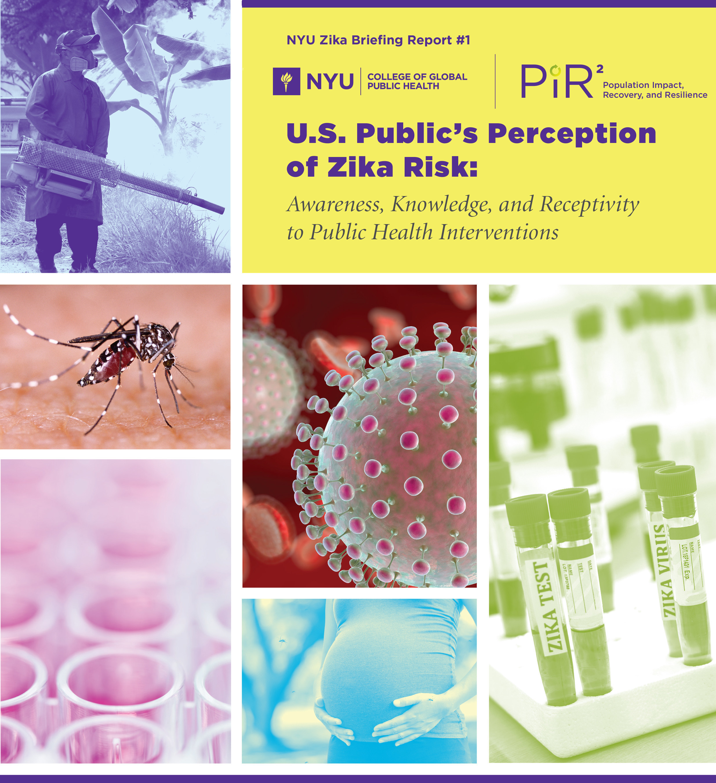 "The study, ""U.S. Public's Perception of Zika Risk: Awareness, Knowledge, and Receptivity to Public Health Interventions,"" by the Program for Population Impact, Recovery and Resilience (PiR2) at NYU CGPH, notes that even though a large majority of the public is aware of the Zika virus, people are split on their support for various public health interventions to prevent or address Zika infections."