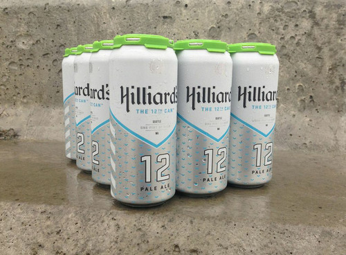 "In an auspicious twist of fate, and months before the Seattle Seahawks hit the NFL playoffs, Seattle's Hilliard's Beer crafted a one-of-a-kind, seasonal pale ale in tribute to Seattle's famous ""12th Man"" fan base. Now, as the Seattle team preps for what the franchise hopes to be their first Super Bowl victory, Hilliard's Beer is proud to have created the ultimate football watching beer for the ultimate fans. 'The 12th Can' is the football lovers right hand can. (PRNewsFoto/Hilliard's Beer) (PRNewsFoto/HILLIARD'S BEER)"