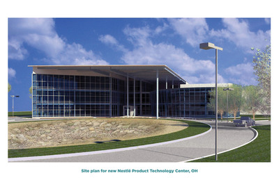 Site plan for new Nestle Product Technology Center, OH.   (PRNewsFoto/Nestle USA)