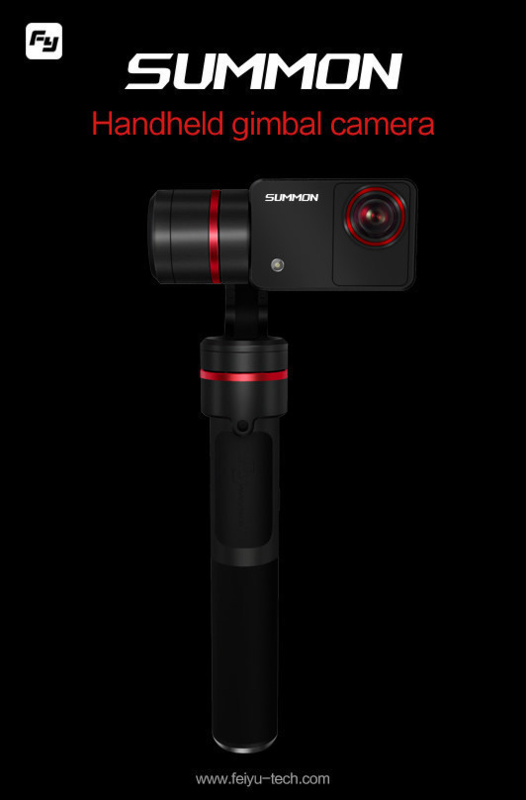Feiyutech's SUMMON handheld gimbal camera can shoot 4K video at 25FPS and with 3-axis stabilization. What's more, it can shoot continuously for more than 180 minutes.