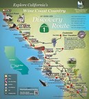 Explore California's Wine Coast Country map (PRNewsFoto/CA's Highway 1 Discovery Route)