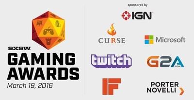 SXSW Gaming Awards - Sponsors (PRNewsFoto/G2A.com)