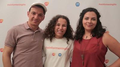 Athletes and Win for Meningitis campaign ambassadors: Lenine Cunha, Suelen Marcheski & Jamie Schanbaum (PRNewsFoto/GSK)