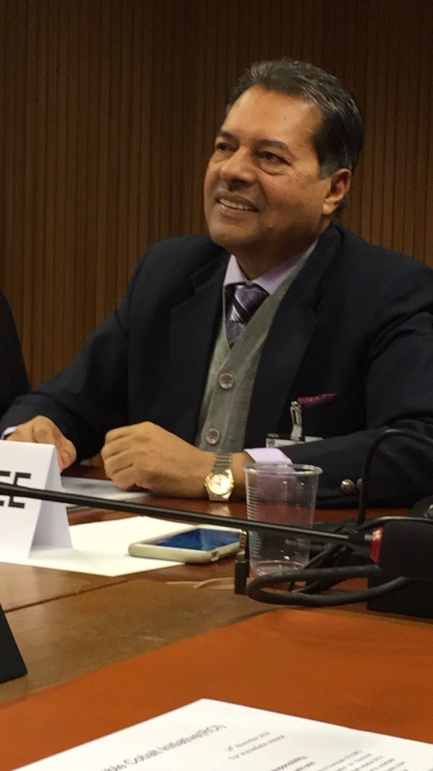 Dr. Chatterjee Explains Benefits of India's Unique '2 Percent Law' at the U.N. Forum on Business and Human Rights.