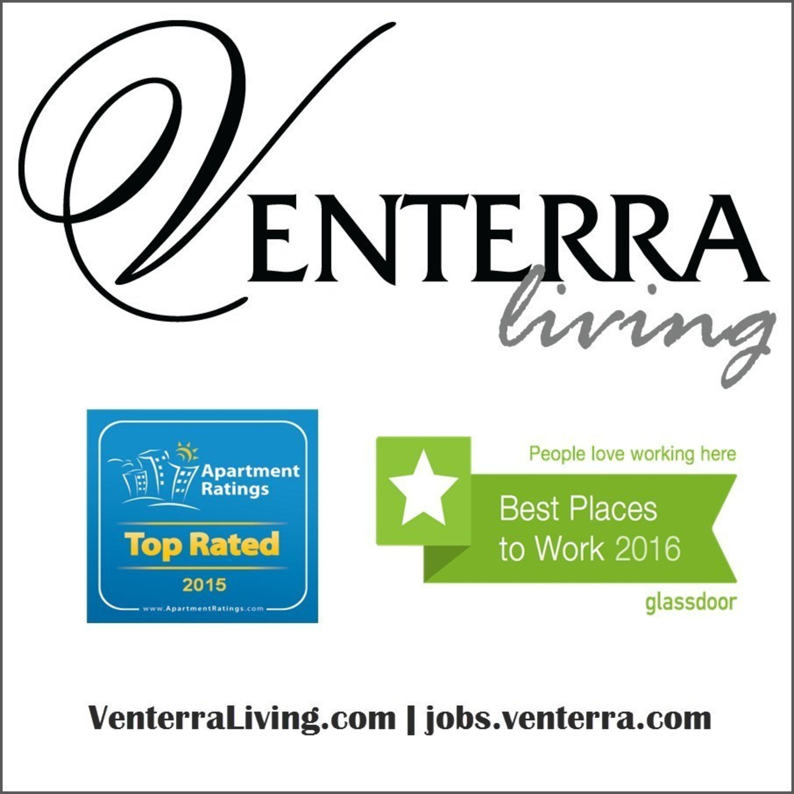 Venterra Realty was awarded Top Rated on ApartmentRatings.com for the 4th year in a row! In 2015, 95% of Venterra Realty's apartment communities were named Top Rated.
